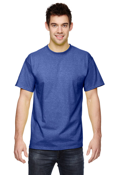 Fruit Of The Loom 3931 Mens HD Jersey Short Sleeve Crewneck T-Shirt Admiral Blue Front