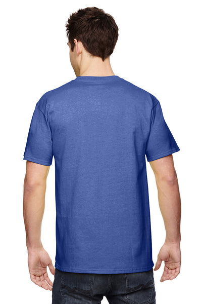 Fruit Of The Loom 3931 Mens HD Jersey Short Sleeve Crewneck T-Shirt Admiral Blue Back