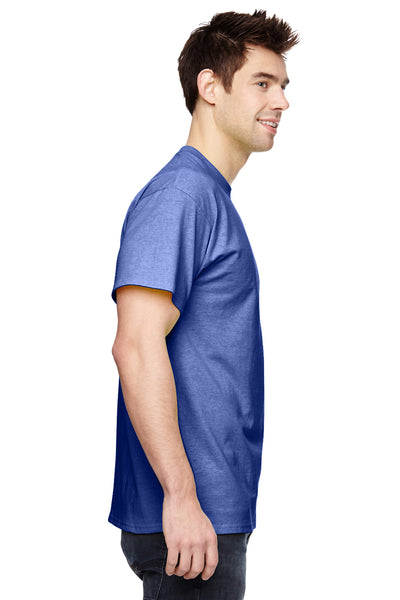 Fruit Of The Loom 3931 Mens HD Jersey Short Sleeve Crewneck T-Shirt Admiral Blue Side
