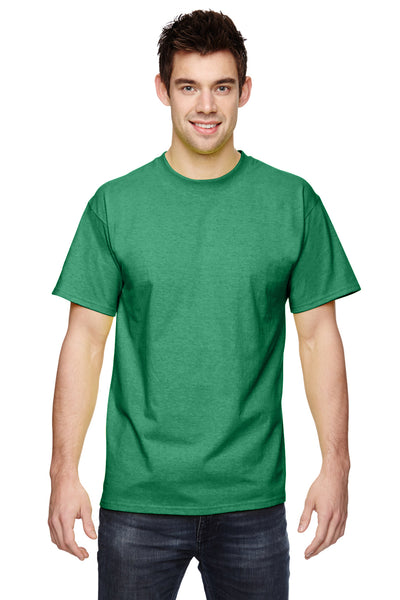 Fruit Of The Loom 3931 Mens HD Jersey Short Sleeve Crewneck T-Shirt Clover Green Front