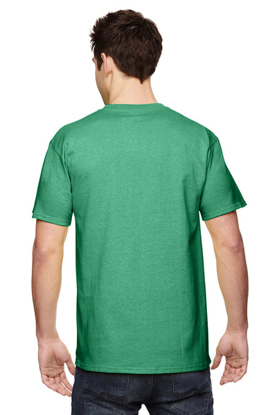 Fruit Of The Loom 3931 Mens HD Jersey Short Sleeve Crewneck T-Shirt Clover Green Back