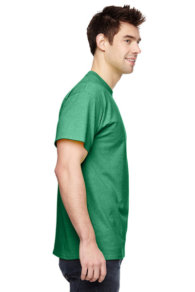 Fruit Of The Loom 3931 Mens HD Jersey Short Sleeve Crewneck T-Shirt Clover Green Side