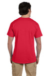 Fruit Of The Loom 3931 Mens HD Jersey Short Sleeve Crewneck T-Shirt Fiery Red Back