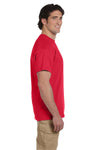 Fruit Of The Loom 3931 Mens HD Jersey Short Sleeve Crewneck T-Shirt Fiery Red Side