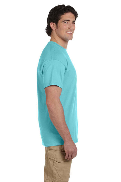 Fruit Of The Loom 3931 Mens HD Jersey Short Sleeve Crewneck T-Shirt Scuba Blue Side