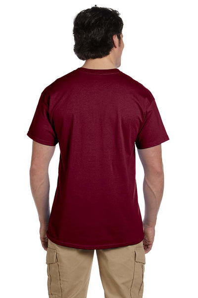 Fruit Of The Loom 3931 Mens HD Jersey Short Sleeve Crewneck T-Shirt Maroon Back
