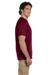 Fruit Of The Loom 3931 Mens HD Jersey Short Sleeve Crewneck T-Shirt Maroon Side