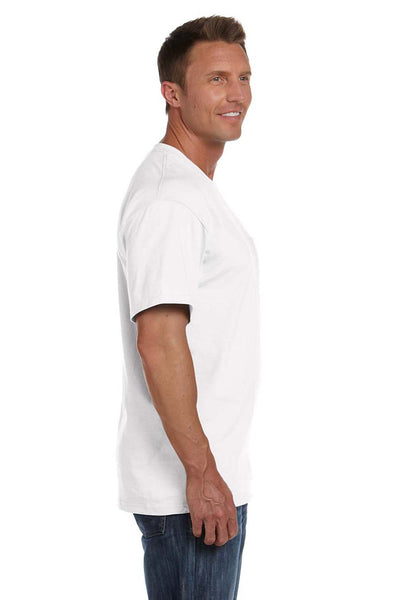Fruit Of The Loom 3931P Mens HD Jersey Short Sleeve Crewneck T-Shirt w/ Pocket White Side