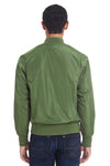 Threadfast Apparel 395J Mens Bomber Full Zip Jacket Army Green Back