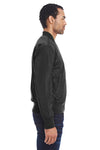 Threadfast Apparel 395J Mens Bomber Full Zip Jacket Black Side