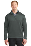 Nike 400099 Mens 1/4 Zip Sweatshirt Anthracite Grey Front