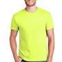 Hanes Mens X-Temp Moisture Wicking Short Sleeve Crewneck T-Shirt - Heather Neon Lemon Yellow