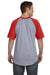 Augusta Sportswear 423 Mens Short Sleeve Crewneck T-Shirt Heather Grey/Red Back