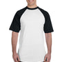 Augusta Sportswear Mens White/Black Short Sleeve Crewneck T-Shirt