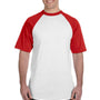 Augusta Sportswear Mens White/Red Short Sleeve Crewneck T-Shirt