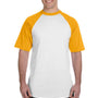 Augusta Sportswear Mens White/Gold Short Sleeve Crewneck T-Shirt
