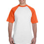 Augusta Sportswear Mens White/Orange Short Sleeve Crewneck T-Shirt