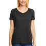 Hanes Womens X-Temp FreshIQ Moisture Wicking Short Sleeve V-Neck T-Shirt - Solid Black