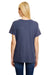 Hanes 42VT Womens X-Temp FreshIQ Moisture Wicking Short Sleeve V-Neck T-Shirt Navy Blue Back