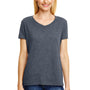 Hanes Womens X-Temp FreshIQ Moisture Wicking Short Sleeve V-Neck T-Shirt - Slate Grey