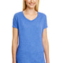 Hanes Womens X-Temp FreshIQ Moisture Wicking Short Sleeve V-Neck T-Shirt - Royal Blue