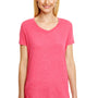 Hanes Womens X-Temp FreshIQ Moisture Wicking Short Sleeve V-Neck T-Shirt - Red