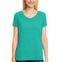 Hanes Womens X-Temp FreshIQ Moisture Wicking Short Sleeve V-Neck T-Shirt - Breezy Green