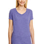 Hanes Womens X-Temp FreshIQ Moisture Wicking Short Sleeve V-Neck T-Shirt - Grape Purple