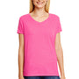 Hanes Womens X-Temp FreshIQ Moisture Wicking Short Sleeve V-Neck T-Shirt - Jazzberry Pink