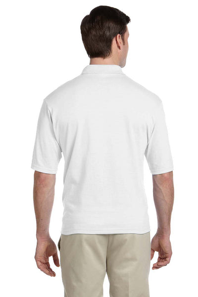 Jerzees 436P Mens SpotShield Stain Resistant Short Sleeve Polo Shirt w/ Pocket White Back