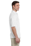 Jerzees 436P Mens SpotShield Stain Resistant Short Sleeve Polo Shirt w/ Pocket White Side