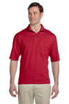 Jerzees 436P Mens SpotShield Stain Resistant Short Sleeve Polo Shirt w/ Pocket Red Front