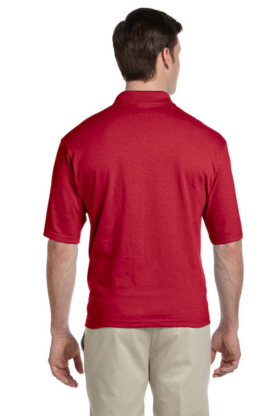Jerzees 436P Mens SpotShield Stain Resistant Short Sleeve Polo Shirt w/ Pocket Red Back