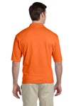 Jerzees 436P Mens SpotShield Stain Resistant Short Sleeve Polo Shirt w/ Pocket Safety Orange Back