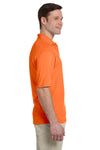 Jerzees 436P Mens SpotShield Stain Resistant Short Sleeve Polo Shirt w/ Pocket Safety Orange Side
