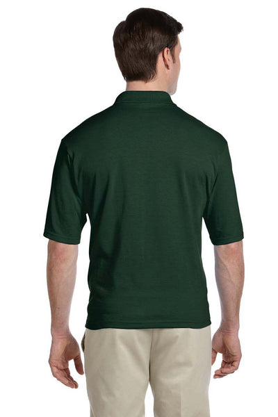 Jerzees 436P Mens SpotShield Stain Resistant Short Sleeve Polo Shirt w/ Pocket Forest Green Back