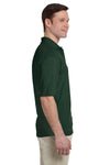 Jerzees 436P Mens SpotShield Stain Resistant Short Sleeve Polo Shirt w/ Pocket Forest Green Side