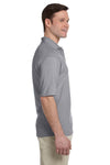 Jerzees 436P Mens SpotShield Stain Resistant Short Sleeve Polo Shirt w/ Pocket Oxford Grey Side