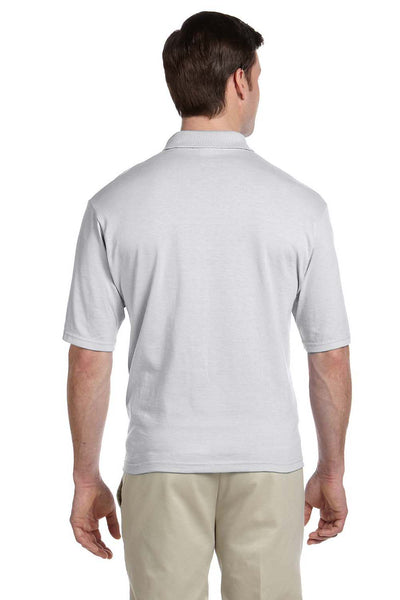 Jerzees 436P Mens SpotShield Stain Resistant Short Sleeve Polo Shirt w/ Pocket Ash Grey Back