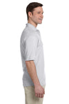 Jerzees 436P Mens SpotShield Stain Resistant Short Sleeve Polo Shirt w/ Pocket Ash Grey Side