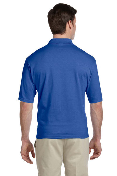 Jerzees 436P Mens SpotShield Stain Resistant Short Sleeve Polo Shirt w/ Pocket Royal Blue Back