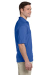 Jerzees 436P Mens SpotShield Stain Resistant Short Sleeve Polo Shirt w/ Pocket Royal Blue Side