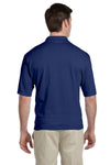 Jerzees 436P Mens SpotShield Stain Resistant Short Sleeve Polo Shirt w/ Pocket Navy Blue Back