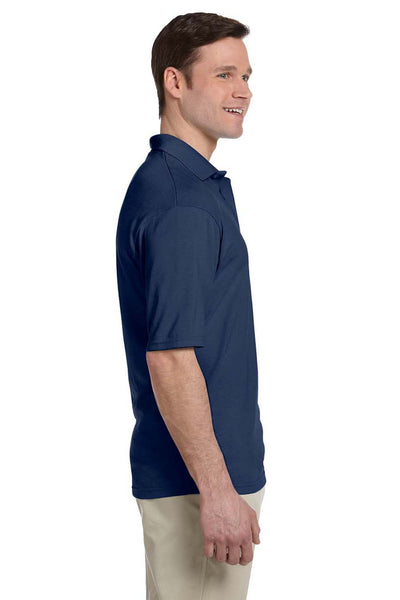 Jerzees 436P Mens SpotShield Stain Resistant Short Sleeve Polo Shirt w/ Pocket Navy Blue Side
