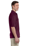 Jerzees 436P Mens SpotShield Stain Resistant Short Sleeve Polo Shirt w/ Pocket Maroon Side