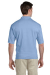 Jerzees 436P Mens SpotShield Stain Resistant Short Sleeve Polo Shirt w/ Pocket Light Blue Back