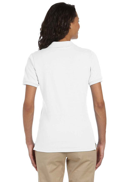 Jerzees 437W Womens SpotShield Stain Resistant Short Sleeve Polo Shirt White Back