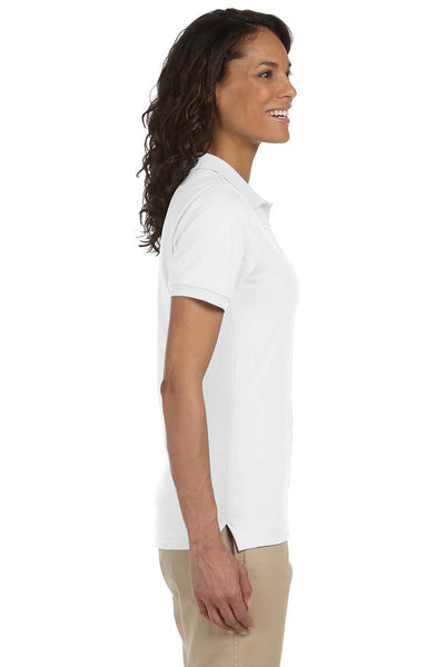 Jerzees 437W Womens SpotShield Stain Resistant Short Sleeve Polo Shirt White Side