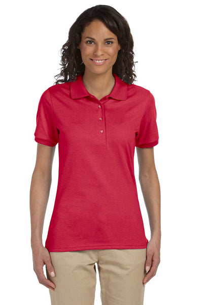 Jerzees 437W Womens SpotShield Stain Resistant Short Sleeve Polo Shirt Red Front