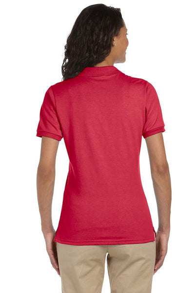 Jerzees 437W Womens SpotShield Stain Resistant Short Sleeve Polo Shirt Red Back